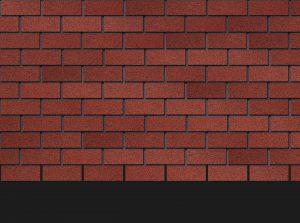 Гибкая битумная фасадная плитка Docke Premium BRICK Клубника