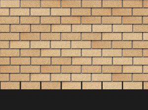 Гибкая битумная фасадная плитка Docke Premium BRICK Янтарный